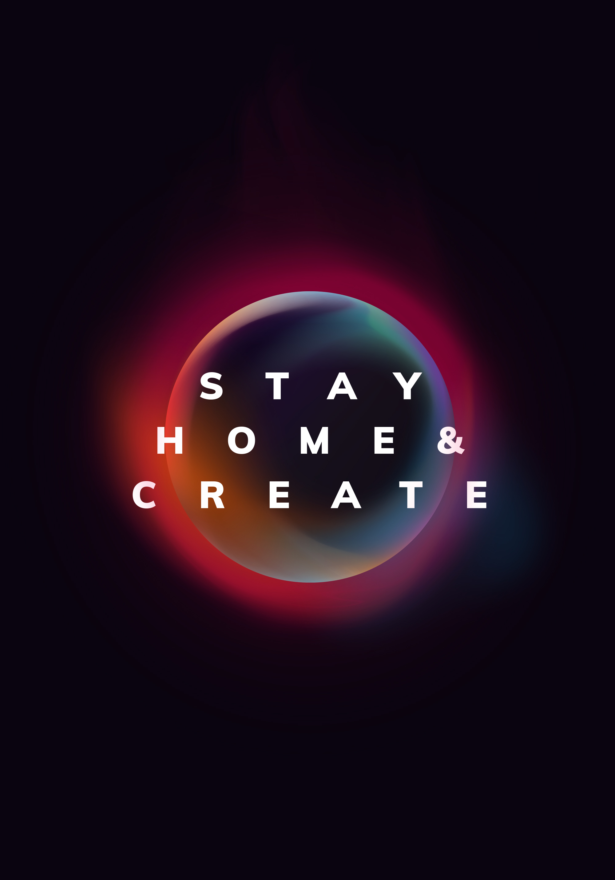 stay home poster design