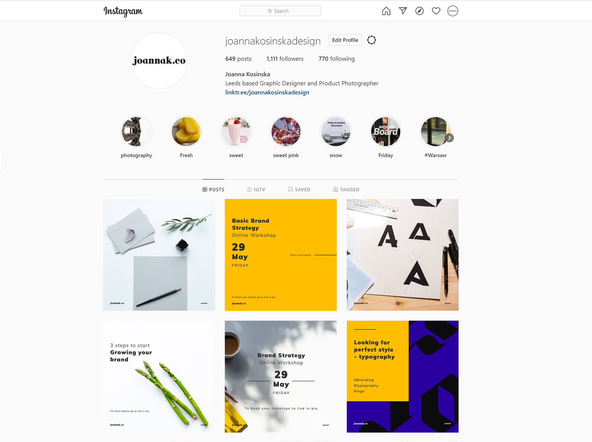 Instagram feed theme